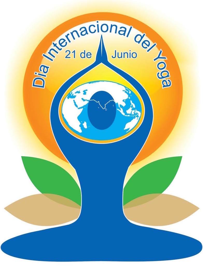 Logo del Día Internacional del Yoga.